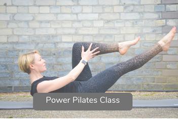 Power Pilates video title slide
