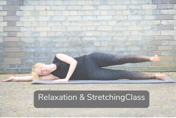 Stretching video title slide